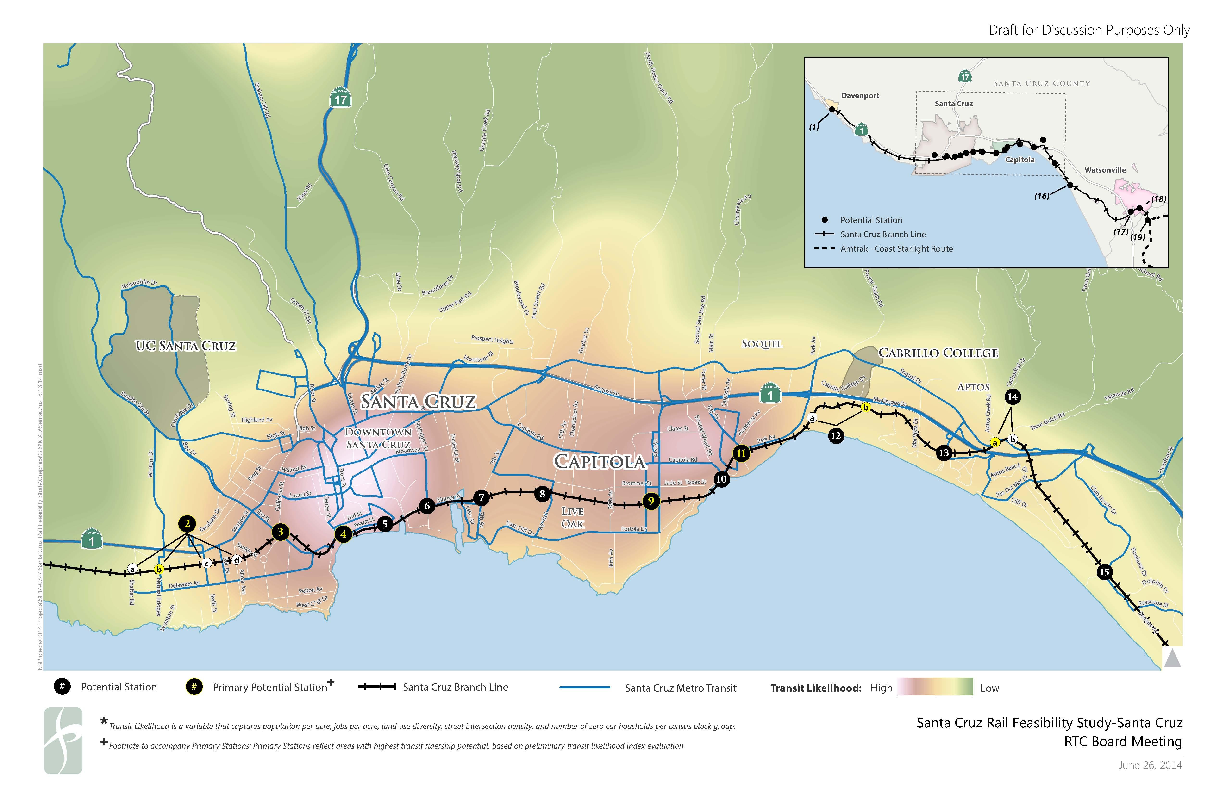 Passenger rail scenarios - Santa Cruz