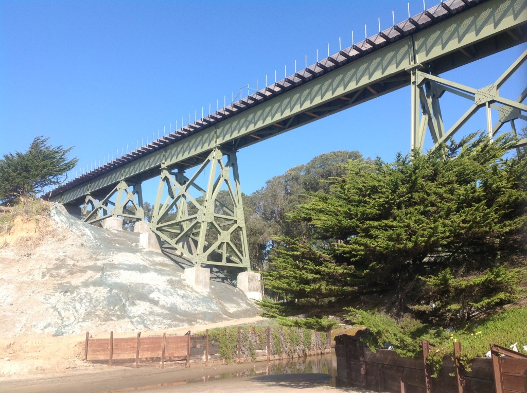 Newly completed La Selva Beach Trestle view from the beach
